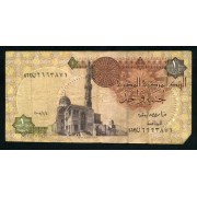 Billete Egipto P.50 1 Pound 1978 Circulado, pliegues Foto estandar