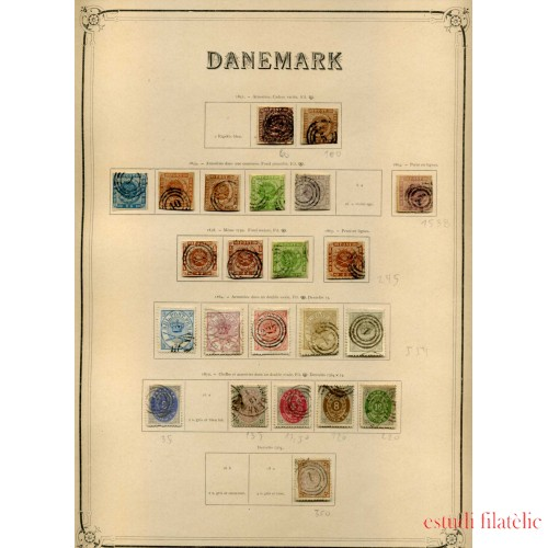 COLECCIÓN COLLECTION DINAMARCA DENMARK DANMARK 1851 -1934 YVERT 7.890 €