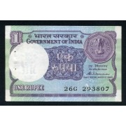 Billete P.78A  India 1 Rupia 1986 SC