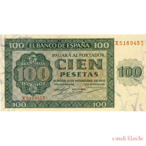 Billete 100 PTAS  21-11-1936 SC