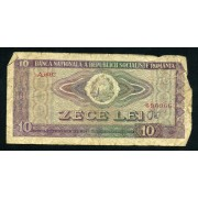 Billete P.94U Rumania 10 Lei 1966 Usado
