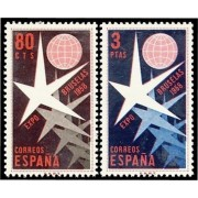 España Spain 1220/21 1958 Expo Bruselas MNH