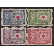 Ecuador A- 130/33 1944 Octogésimo Aniversario Cruz Roja Red Cross MH
