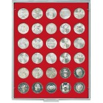 Lindner 2150 Coin box STANDARD with 30 round compartments for coins with Ø 34 mm