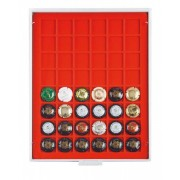 Champagne lid box (grey drawer, light red velour insert)