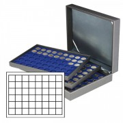 Coin case NERA XL with 3 trays and darkblue coin inserts