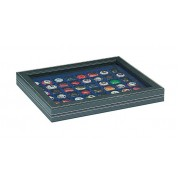 NERA M PLUS coin case with a dark blue insert with 48 square compartments