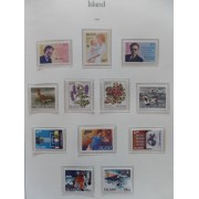 Colección Collection Islandia  1980/89 MNH