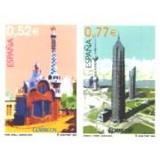 España Spain Emisión conjunta 2004 España-China Arquitectura MNH