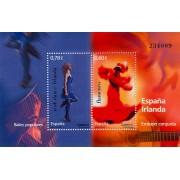 España Spain HB Emisión Conjunta 2008 España-Irlanda Bailes populares MNH