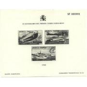 España Spain Hojitas Recuerdo 120 1988 FNMT 50 Aniversario del primer correo submarino Prueba en negro 781