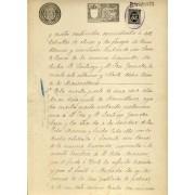 España Spain Variedad 239 1898 Papel Sellado Notarial Fiscal
