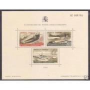 España Spain Hojitas Recuerdo 119 1988 FNMT Aniversario del primer correo submarino 781