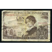 Billete 100 Ptas 19-11-1965  Bequer
