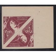 España Spain Franquicias 1938 2 Pta exportación AFO , derecho de reconocimiento, enpareja,emitido por Oliva de Vilanova