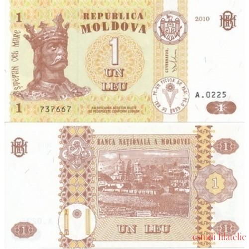 Billete Moldova Moldavia 1 LEU 2010 S/C