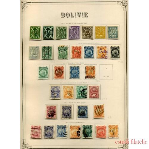 BOLIVIA COLECCIÓN COLLECTION BOLIVIA 1867 - 1931 CATÁLOGO YVERT 5549 € SELLOS