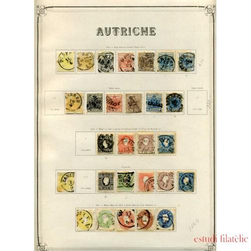 Colección Colletion Austria Osterreich 1850 - 1932 Yvert 8.041€