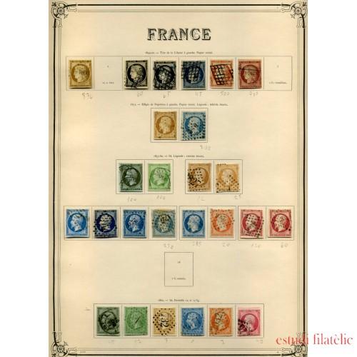 COLECCIÓN COLLECTION FRANCIA FRANCE 1849 - 1931 YVERT 23.734 €
