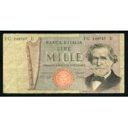 Billete P.101f  Italia 1979 1000 Liras Circulado