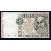 Billete P.109a Italia 1982 1.000 Liras SC-  Ligero pliegue