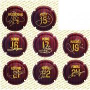 Placas de cava FC BARCELONA BARÇA 2010/2011 DORSALES 3ª