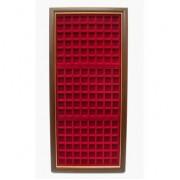 Filober Vitrina expositora placas chapas de cava para 144 placas 28x66
