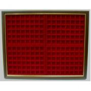 Filober Vitrina expositora placas chapas de cava para 192 placas 44x56