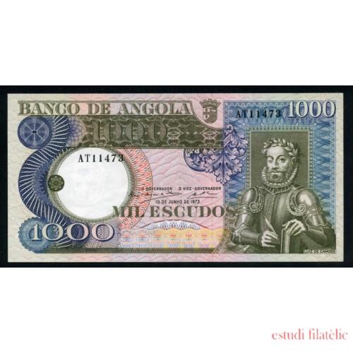 Angola 1000 Escudos 1973 billete Sin circular Plancha