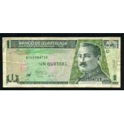Guatemala 1 Quetzal 1983 Billete Banknote Circulado Pliegues