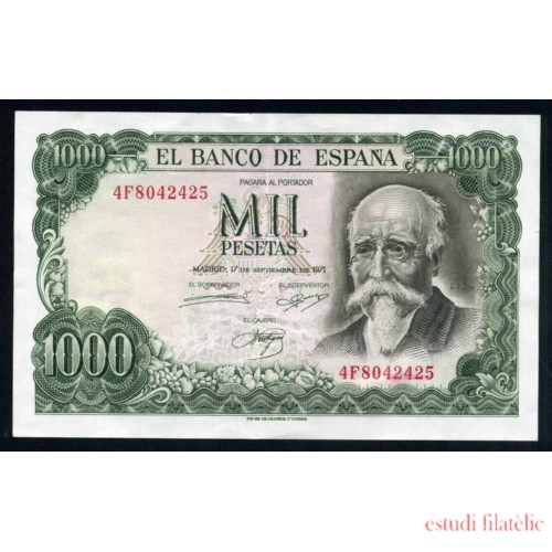 Billete 1000 Ptas Madrid 17-9-1971 J.Echegaray