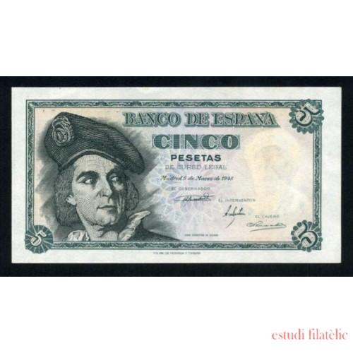 Billete 5 Ptas 5-3-1948 J.Sebastián El Cano