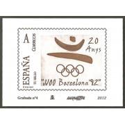 España Spain Grabado 4 Barnafi Aniversario Olimpiada de Barcelona
