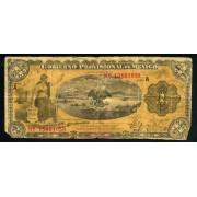 Billete  MÉXICO VERACRUZ 1915 GOB. PROVISONAL 1 PESO CIRCULADO PLIEGUES Y ROTURAS