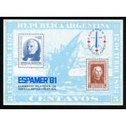 España Spain Hojitas Recuerdo 102 1981 FNMT Espamer 81 Buenos Aires