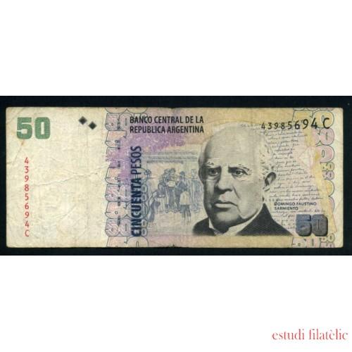 Billete Argentina P.356 50 pesos 2003 Circulado Pliegues