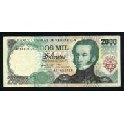 Billete P.77a Venezuela 2000 bolívares 1997 Circulado Pliegues