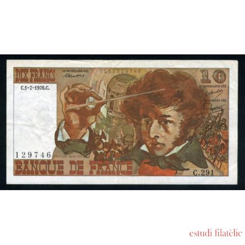 Francia 10 Francos 1976 Billete Banknote Circulado Pliegue