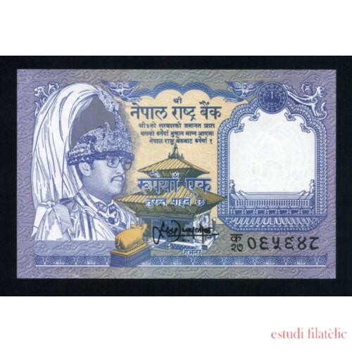 Billete P.58 Nepal 1 Rupia 2008 Plancha