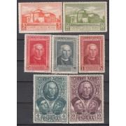 España Spain 559/65 1930 DESCUBRIMEINTO AMÉRICA COLON CORREO AÉREO MH