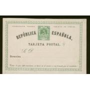 España Spain Entero Postal 2v Vuelta 1874