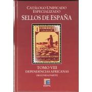 Catálogo Especializado España Edifil Sellos Dependencias Africanas Tomo VIII 2ª