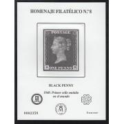 España Spain Homenaje Filatélico 8 2012 Black Penny 1er sello del mundo 1840