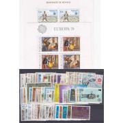 Tema Europa - 1979 - Completo Tema Europa 68 Sellos + 2 HB