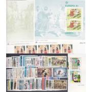 Tema Europa  1981 Año Completo 69 Sellos + 4 HB