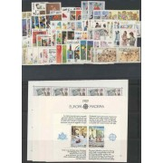 Tema Europa - 1989 - Completo Tema Europa 85 Sellos + 5 HB