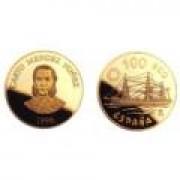 España Spain Monedas Marina Española. España 1996 100 ecus oro