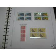 Andorra Francesa Colección completa 1981 - 1992 bloque de 4