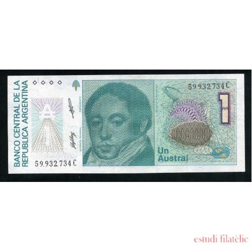 Billete P.323 Argentina 1 Austral 1985-89  Sin circular