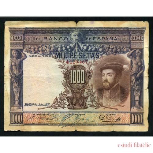 Billete 1000 Ptas 1-7-1925 Carlos I